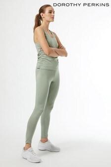 Dorothy Perkins Sage Ruched Side Yoga Vest