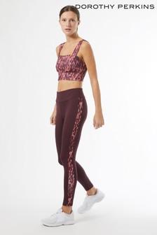 Dorothy Perkins Red Printed Yoga Top
