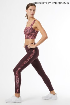 Dorothy Perkins Red Printed Yoga Legging