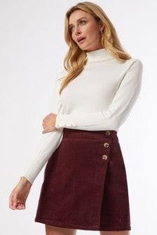 Dorothy Perkins Red Cord Wrap Mini Skirt