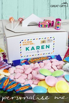 Personalised Good Luck Sweet Box by Great Gifts