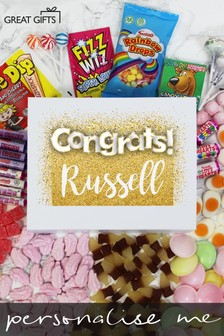 Personalised Congratulations Deluxe Sweet Box by Great Gifts