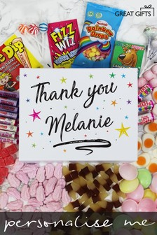 Personalised Thank You Deluxe Sweet Box by Great Gifts