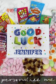Personalised Good Luck Deluxe Sweet Box by Great Gifts
