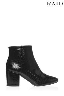 Raid Crocodile Patent Ankle Boots