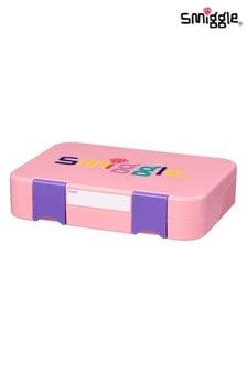 Smiggle Pink Happy Bento Lunchbox