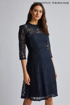 Dorothy Perkins Navy Long Sleeve Talulah Dress