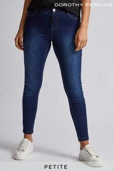Dorothy Perkins Mild Wash Petite Skinny Coated Jeans