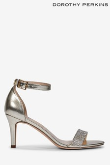 Dorothy Perkins Silver Blinger Diamante Trim Sandal