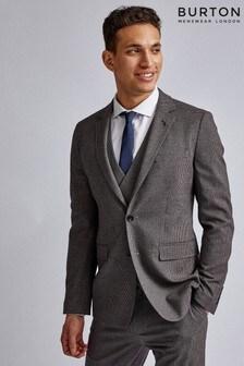 Burton Gingham Skinny Fit Suit Jacket