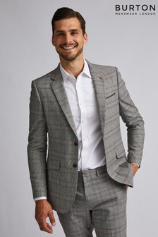 Burton Skinny Retro Check Suit Jacket