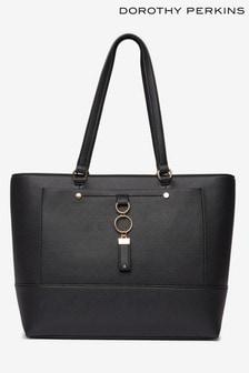 Dorothy Perkins Black Pocket Front Shopper Bag