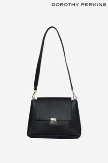 Dorothy Perkins Black Soft Pushlock Cross Body Bag