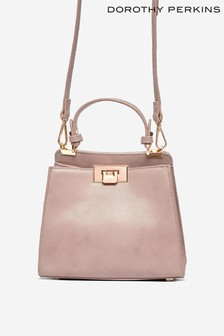 Dorothy Perkins Brown Taupe Top Handle Mini Bag