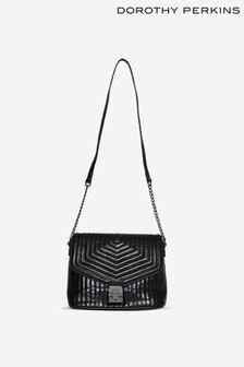 Dorothy Perkins Black Quilted Pushlock Shoulder Bag