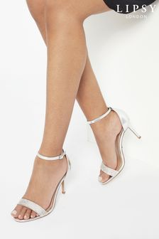 Lipsy Silver Diamante Barely There Sandals
