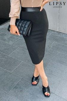 Lipsy Black Pencil Skirt