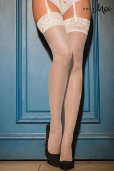 Pour Moi Ivory Allure Lace Top 15 Denier Stocking