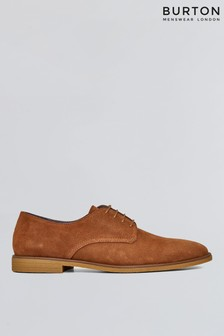 Burton Tan Suede Derby Shoe