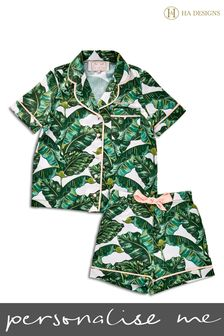Personalised Mini Children's Satin Pyjama Set by HA Designs