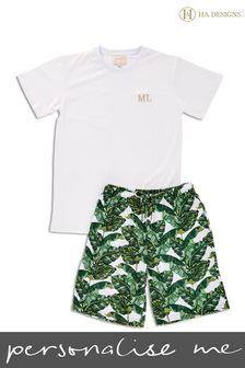 Personalised Sleep Mens Pyjama Set by HA Designs