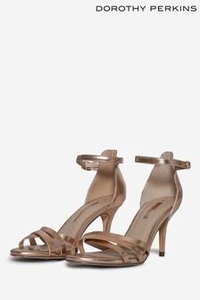 Dorothy Perkins Gold Sambala Dressy Heeled Sandal
