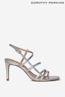 Dorothy Perkins Silver Sahara Minimal Heeled Sandal