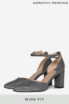 Dorothy Perkins Black Wide Fit Evoke Court Shoe
