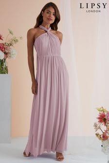 Lipsy Purple Bella Mesh Multiway Maxi Dress