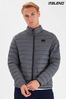 Blend Grey Funnel Quilted Jacket