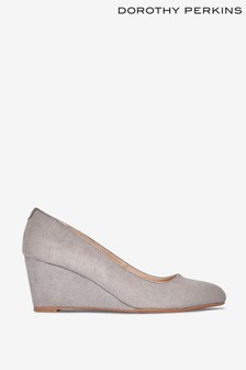 Dorothy Perkins Grey Dreamer Wedge Court Shoes