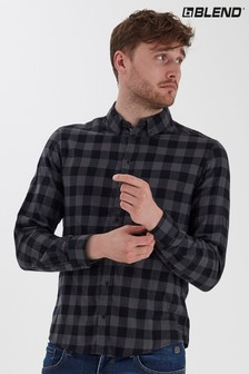 Blend Checkered Brushed Slim Fit Checked Flannel Shirt