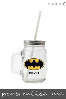 Personalised Batman Drinking Glass By YooDoo