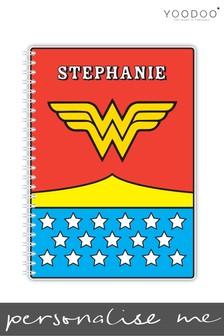Personalised Wonder Woman A5 Notebook By YooDoo