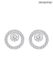 Swarovski Silver Creativity Circle Pierced Earrings
