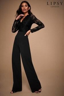 Lipsy Long Sleeve Lace Jumpsuit
