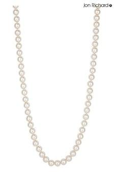 "Jon Richard Cream 24"" Pearl Gold Clasped Necklace"