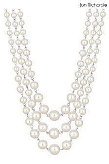 Jon Richard Cream Pearl Multi Row Necklace
