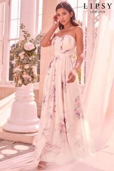 Lipsy Floral  Bella Mesh Multiway Maxi Dress