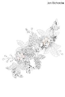 Jon Richard Silver Plated Crystal Suzie Open Leaf Cluster Clip