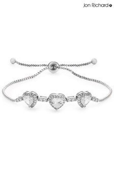 Jon Richard Silver Plated Plated Crystal Toggle Bracelet
