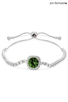 Jon Richard Silver Plated Crystal Amythyst Coloured Square Toggle Bracelet