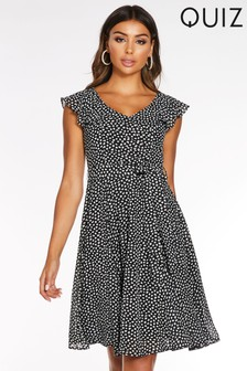 Quiz Frill Tea Dress