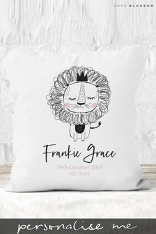 Personalised Lipsy Baby Lion Cushion By Koko Blossom
