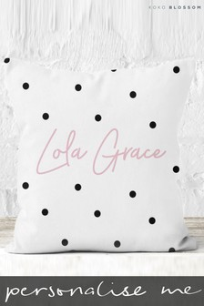 Personalised Spotty Cushion By Koko Blossom
