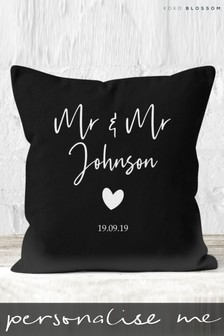 Personalised Mr & Mrs Cushion By Koko Blossom