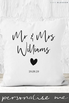Personalised Lipsy Mr & Mrs Cushion By Koko Blossom