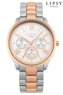 Lipsy Rose Gold Two Tone Watch