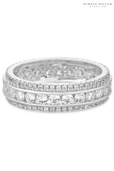 Simply Silver Sterling Silver 925 Cubic Zirconia Band Ring