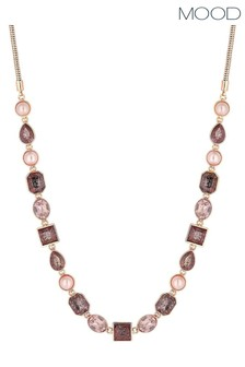 Mood Rose Gold Plated Peach Mix Allway Necklace